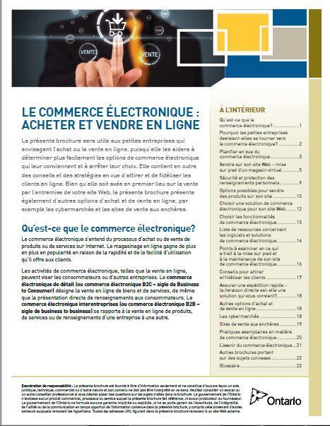Le Commerce Electronique Acheter et vendre en ligne