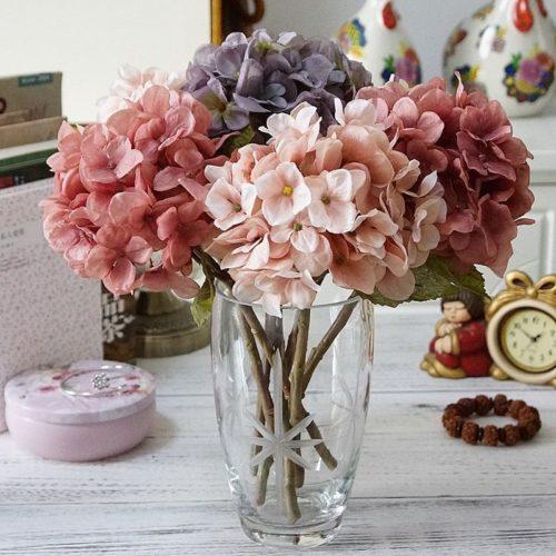 1 paquet soie hortensia automne Vase pour d cor la maison no l d coratif mariage