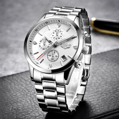 2020 LIGE hommes montres haut de gamme marque Sport Quartz montre hommes chronographe tanche montre bracelet
