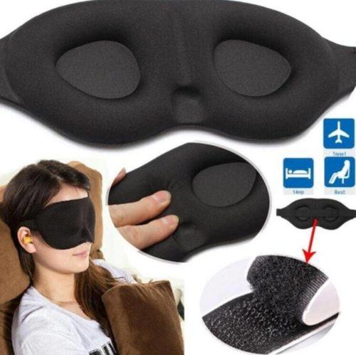 3D masque pour les yeux de sommeil aide au repos de voyage masque pour les