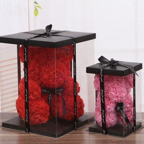 40cm ours en peluche de Rose fleurs artificielles PE Rose pour les femmes saint valentin mariage