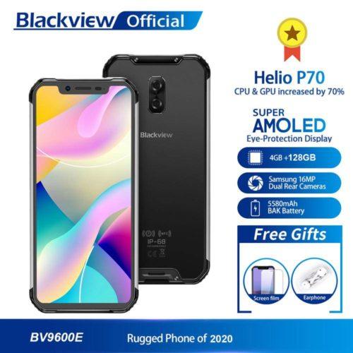 Blackview BV9600E nouveau t l phone portable tanche Helio P70 Android 9 0 4GB RAM 128GB