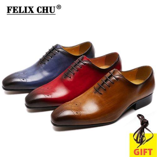 FELIX CHU grande taille 7 13 Oxfords en cuir hommes chaussures coupe enti re mode d