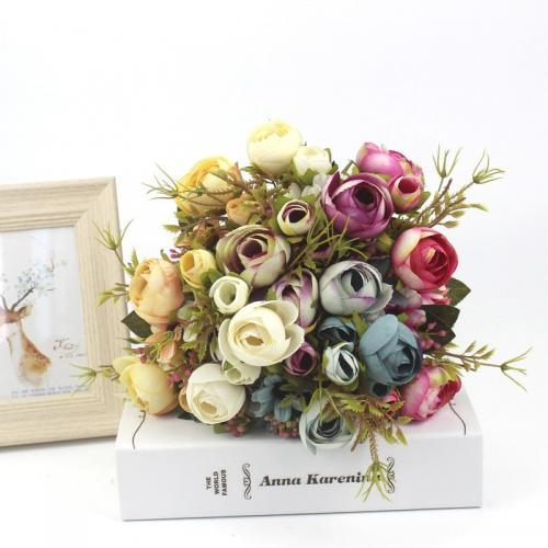Fleurs de Gerbera d automne artificielles en soie et plastique fausses fleurs pour un mariage pour