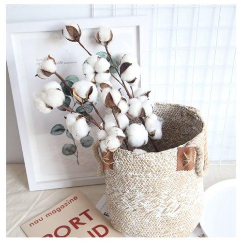 Fleurs de coton s ch es naturellement vase Floral pour fleurs d coratives de mariage fausses