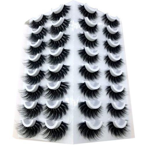 HBZGTLAD 16 paires 3D vison cheveux faux cils naturel pais longs yeux cils vaporeux maquillage beaut