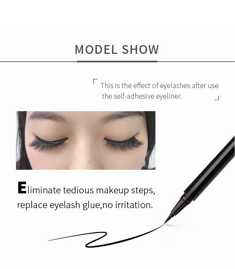 Top-quality 3d faux mink eyelashes peacock eyeliner pen