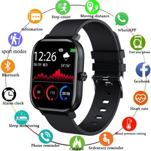 LIGE nouveaux hommes montre intelligente bracelet hommes femmes Sport horloge moniteur de fr quence cardiaque moniteur
