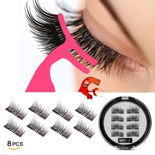 MB faux cils en vison magn tiques en 3D 8 pi ces aspect 100 cheveux naturels