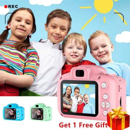 Mini appareil photo num rique jouets pour enfants 2 pouces HD cran rechargeable accessoires de photographie