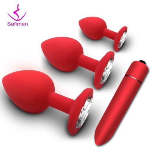 Plug anal en silicone pour adulte jouet sexuel massage de la prostate vibromasseur convient pour