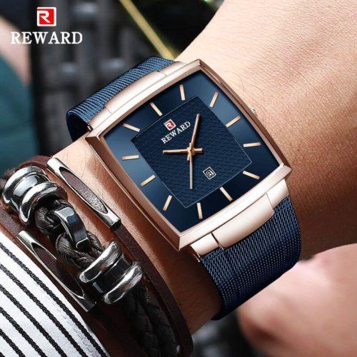 R compense hommes montres haut marque de luxe 2021 hommes carr Quartz montre bracelet affaires tanche