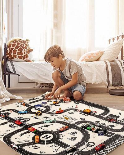 Tapis de jeu ducatif pour enfants carte d autoroute 83x57cm 130x100CM tapis de jeu ducatif pour