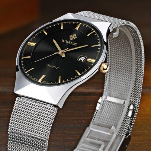 WWOOR montre hommes 2021 Top marque de luxe Ultra mince homme montre bracelet montres d affaires