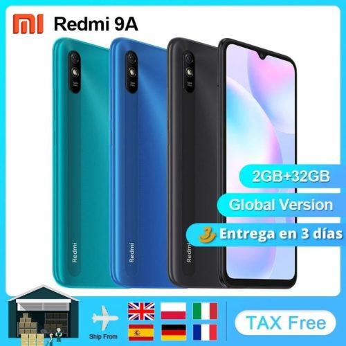 Xiaomi Redmi 9A Version mondiale t l phone portable 2GB 32GB MTK Helio G25 Octa Core