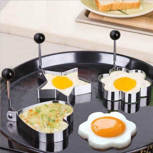 1 pi ces accessoires de cuisine en acier inoxydable oeuf frit Shaper moule cr pes Omelette