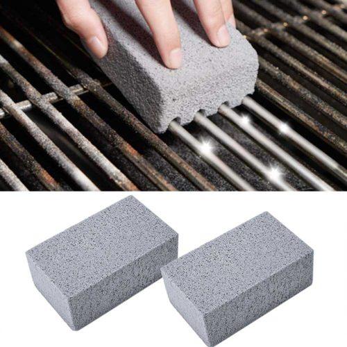 2 pi ces Barbecue gril nettoyage brique bloc Barbecue nettoyage pierre Barbecue supports taches graisse nettoyant