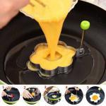 Accessoires de cuisine moule oeufs frits anneaux d omelette en acier inoxydable BBQ outil oeufs fabricant 1