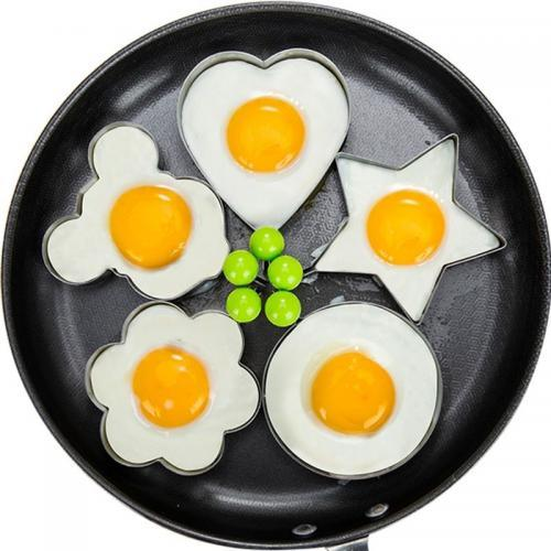 Accessoires de cuisine moule oeufs frits anneaux d omelette en acier inoxydable BBQ outil oeufs fabricant