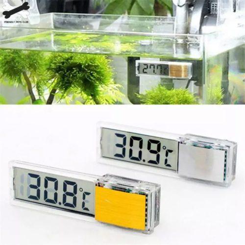 Aquarium thermom tre num rique LCD Aquarium lectronique 3D num rique jauge de temp rature autocollant