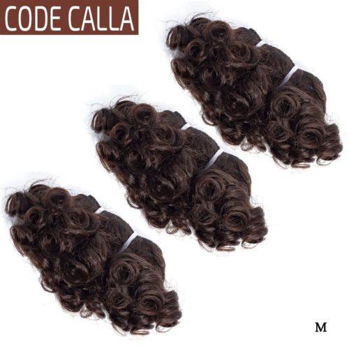 Code Calla paquets boucl s rebondissants br silien Remy Double trame dessin e Extensions de