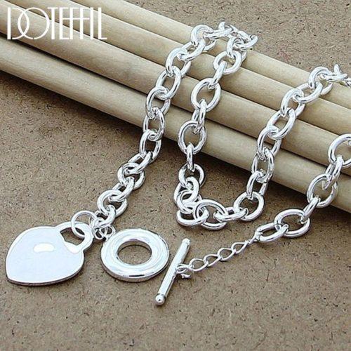 DOTEFFIL collier pendentif en argent Sterling 925 pendentif en forme de c ur cercle ou chien