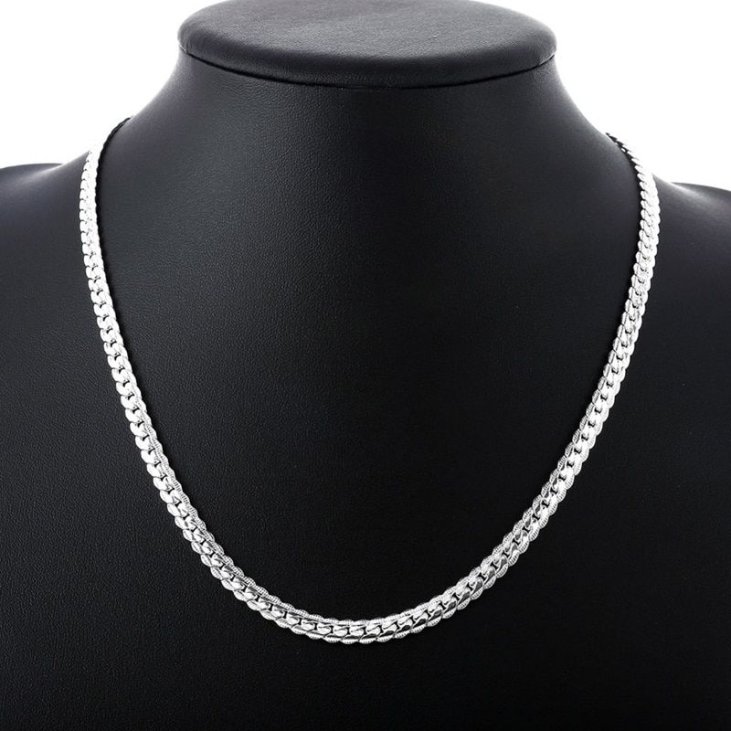 New-Arrivals-Women-5MM-Full-Sideways-Silver-Necklace-925-stamped-silver-plated-Fashion-Jewelry-Women-Men