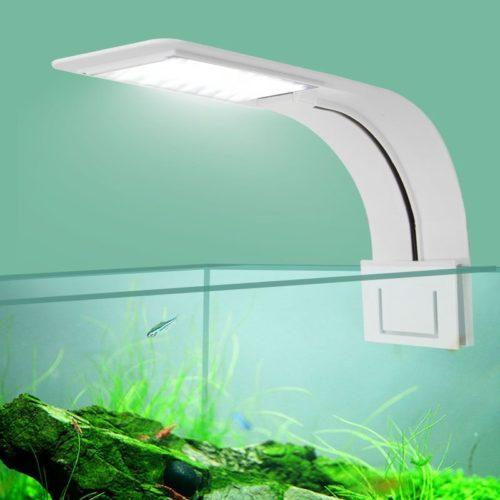 Lampe de croissance Super mince lumi re LED d aquarium tanche clairage avec clips pour plantes