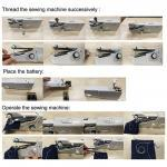 Machine coudre Portable sans fil machines coudre portables pierreries v tements tissus Machine coudre lectrique ensemble 4