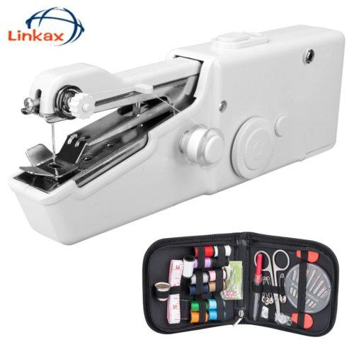 Machine coudre Portable sans fil machines coudre portables pierreries v tements tissus Machine coudre lectrique ensemble