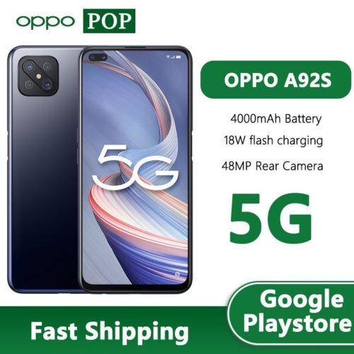 OPPO A92s 5G t l phone portable 6 57 pouces 120Hz cran 8GB 128GB MTK MT6873V
