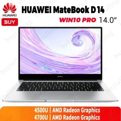 Ordinateur portable d origine HUAWEI MateBook D 14 14 pouces AMD Ryzen r5 4500U r7 4700U