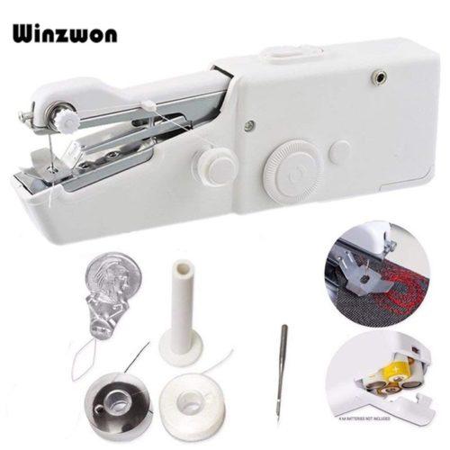 Portable Mini main Machine coudre rapide pratique point coudre couture sans fil v tements tissus m