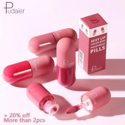 Pudaier Mini rouge l vres liquide Portable professionnel maquillage complet rouge l vres Portable pour les