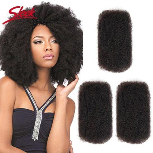 Tresses africaines naturelles Remy lisses Cheveux humains cr pus ondul s couleur naturelle sans fixation pour