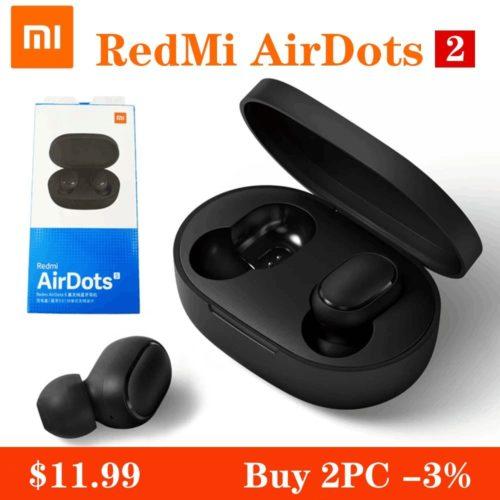 Xiaomi Redmi Airdots S couteurs Bluetooth TWS sans fil Bluetooth couteur AI contr le casque de