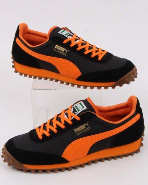 puma fast rider trainer black orange p15077 83752 zoom