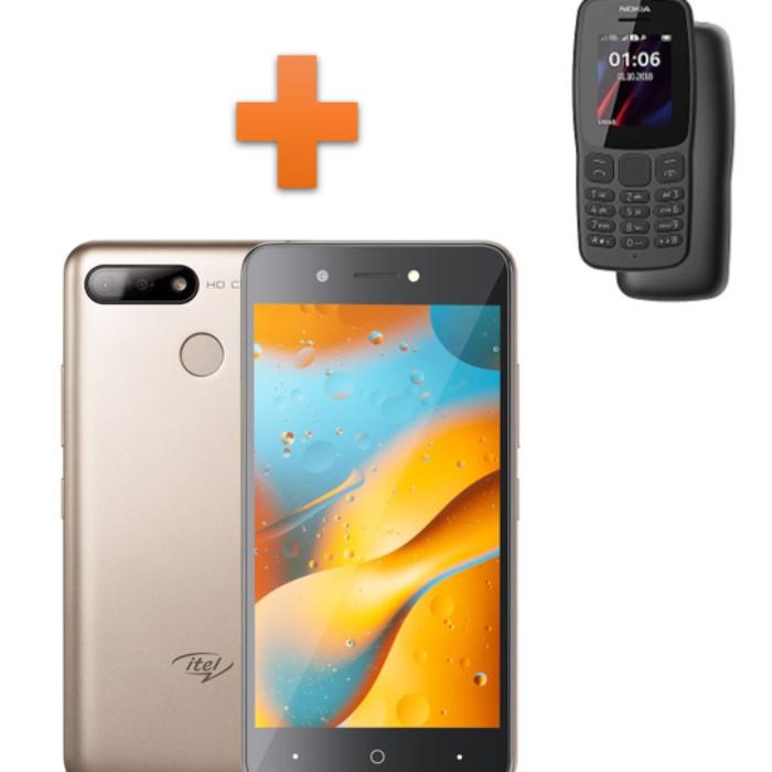 Itel P15 + Nokia 106