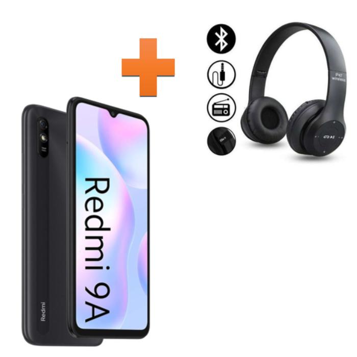 Xiaomi Redmi 9A + Casque
