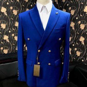 Costume croisé – Bleu roi