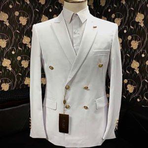 Costume croisé – Blanc